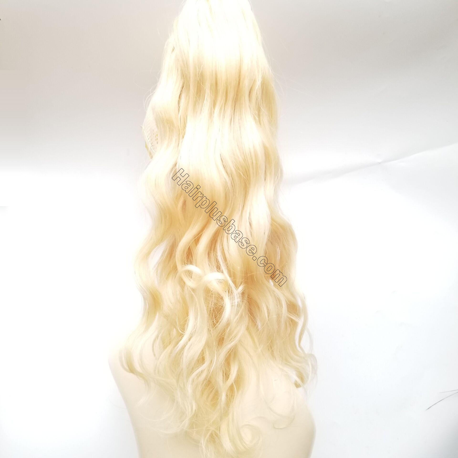 14 - 32 Inch Body Wave Claw Ponytail Extension Human Hair #613 Bleach Blonde 3