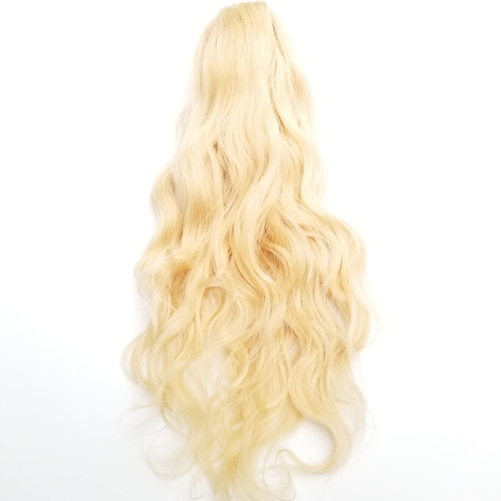 14 - 32 Inch Body Wave Claw Ponytail Extension Human Hair #613 Bleach Blonde 5