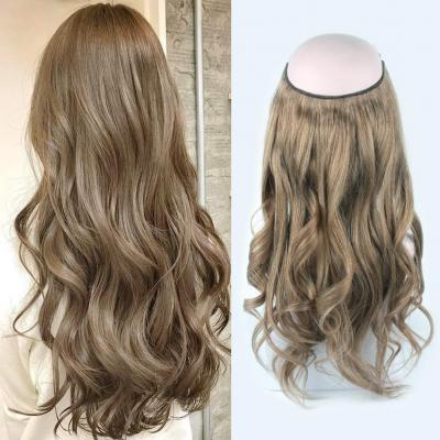14 - 32 Inch Halo Hair Extensions #8 Body Wave/Straight