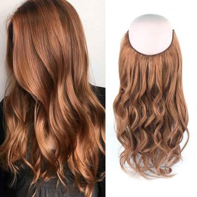 14 - 32 Inch Halo Human Hair Extensions #30 Body Wave/Straight