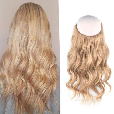 14 - 32 Inch Human Hair Halo Extensions #12 Body Wave/Straight