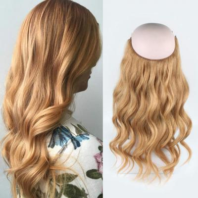 14 - 32 Inch Human Hair Halo Extensions #27 Body Wave/Straight