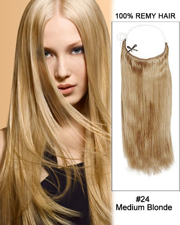 14 32 Inch Straight Secret Human Hair Extensions 24 Medium Blonde
