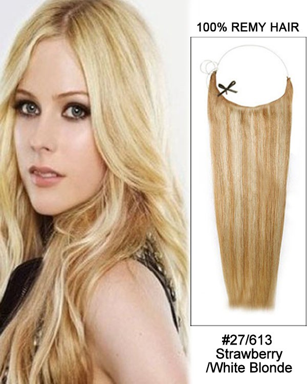 14 - 32 Inch Straight Secret Human Hair Extensions #27/613 Strawberry White Blonde 0