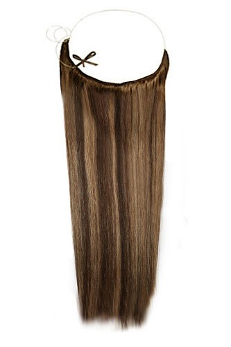 14 - 32 Inch Straight Secret Human Hair Extensions #4/27 Brown Blonde 1