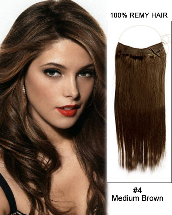 14 32 Inch Straight Secret Human Hair Extensions 4 Medium Brown