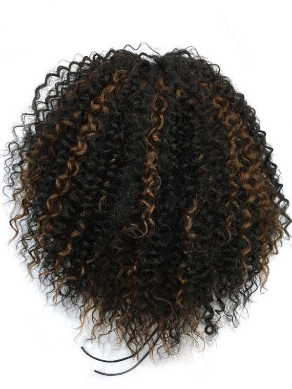 14-32 Inch Draw String Human Hair Ponytail in Kinky Curly  #1B/30