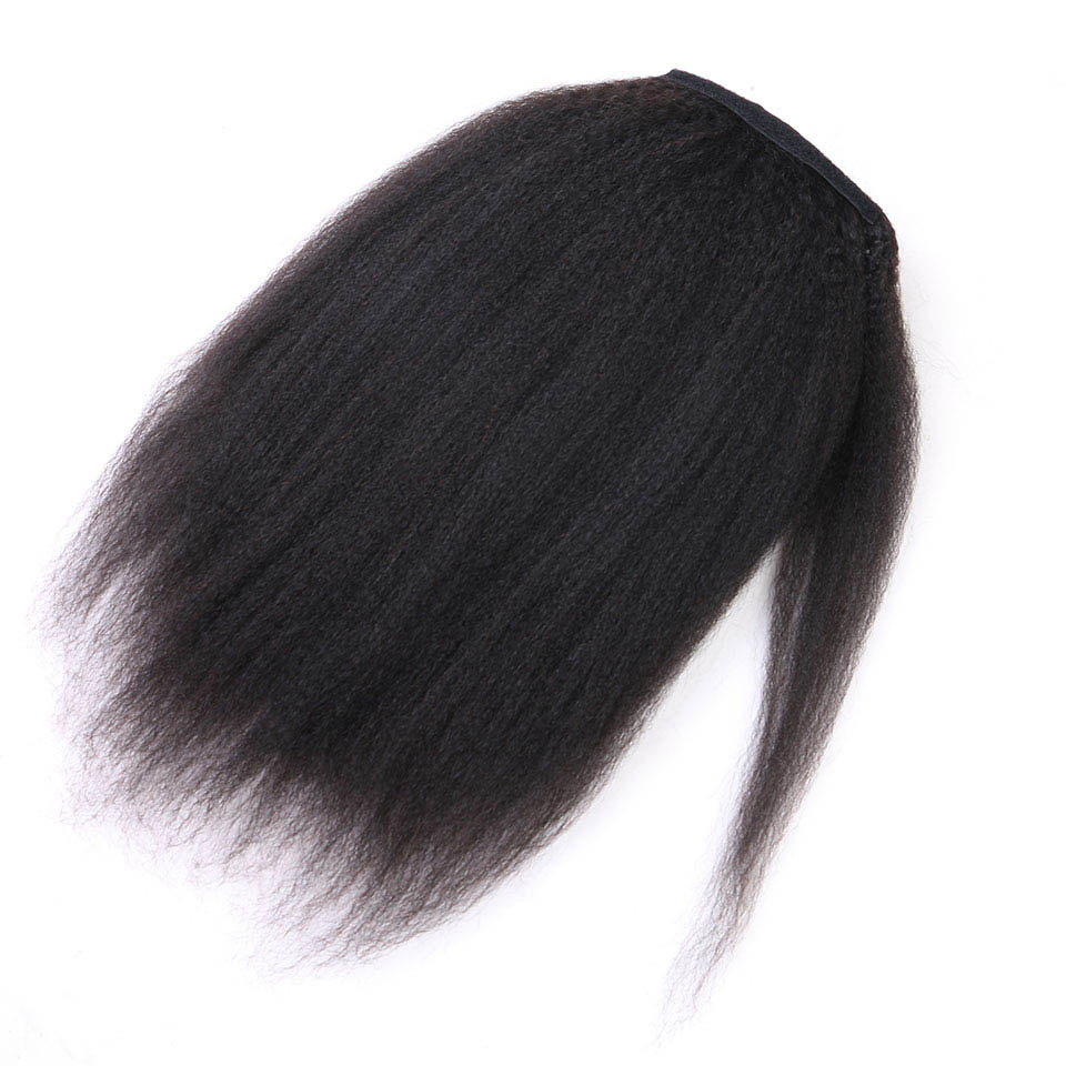 14-32 Inch Wrap Around Clip In Human Hair Ponytail Extensions 3
