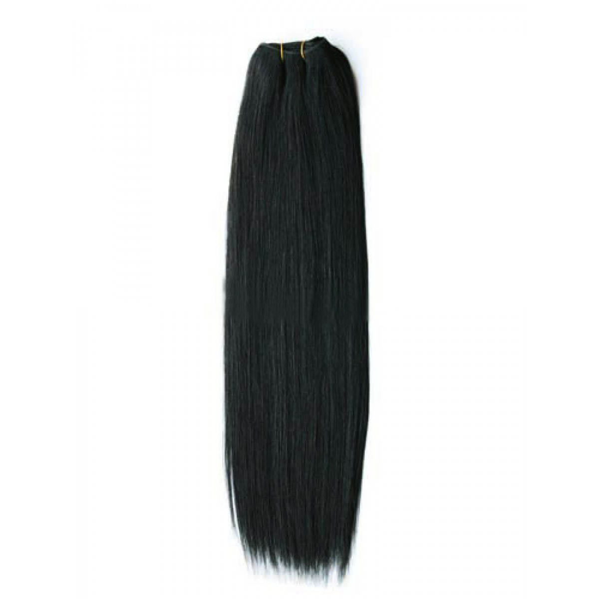 14 Inch #1 Jet Black Straight Brazilian Virgin Hair Wefts no 1
