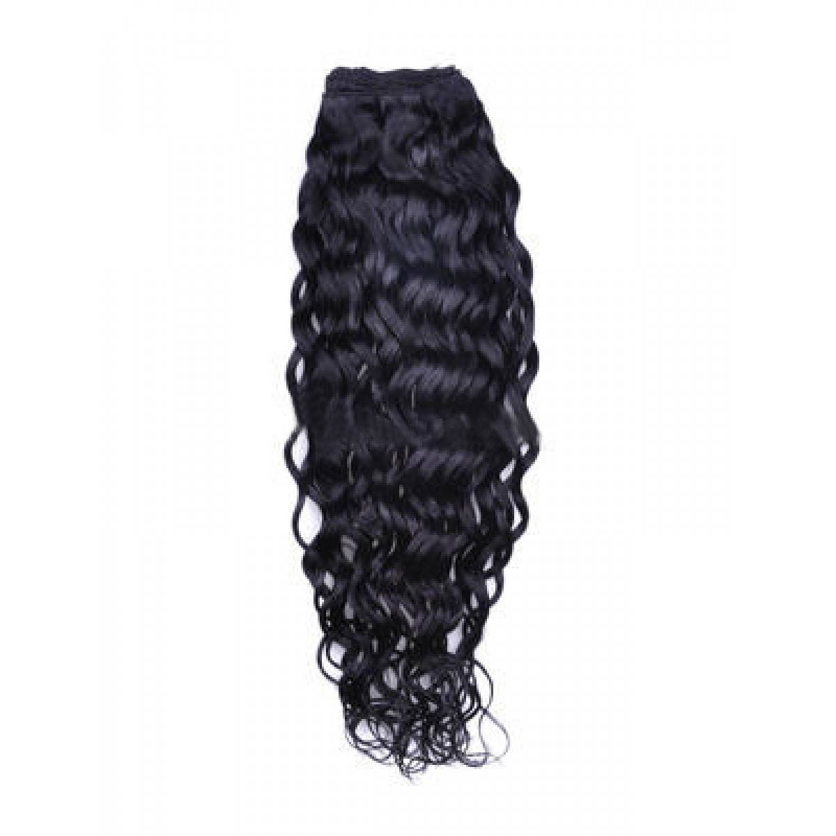 14 Inch #1b Natural Black Curly Brazilian Virgin Hair Wefts no 1