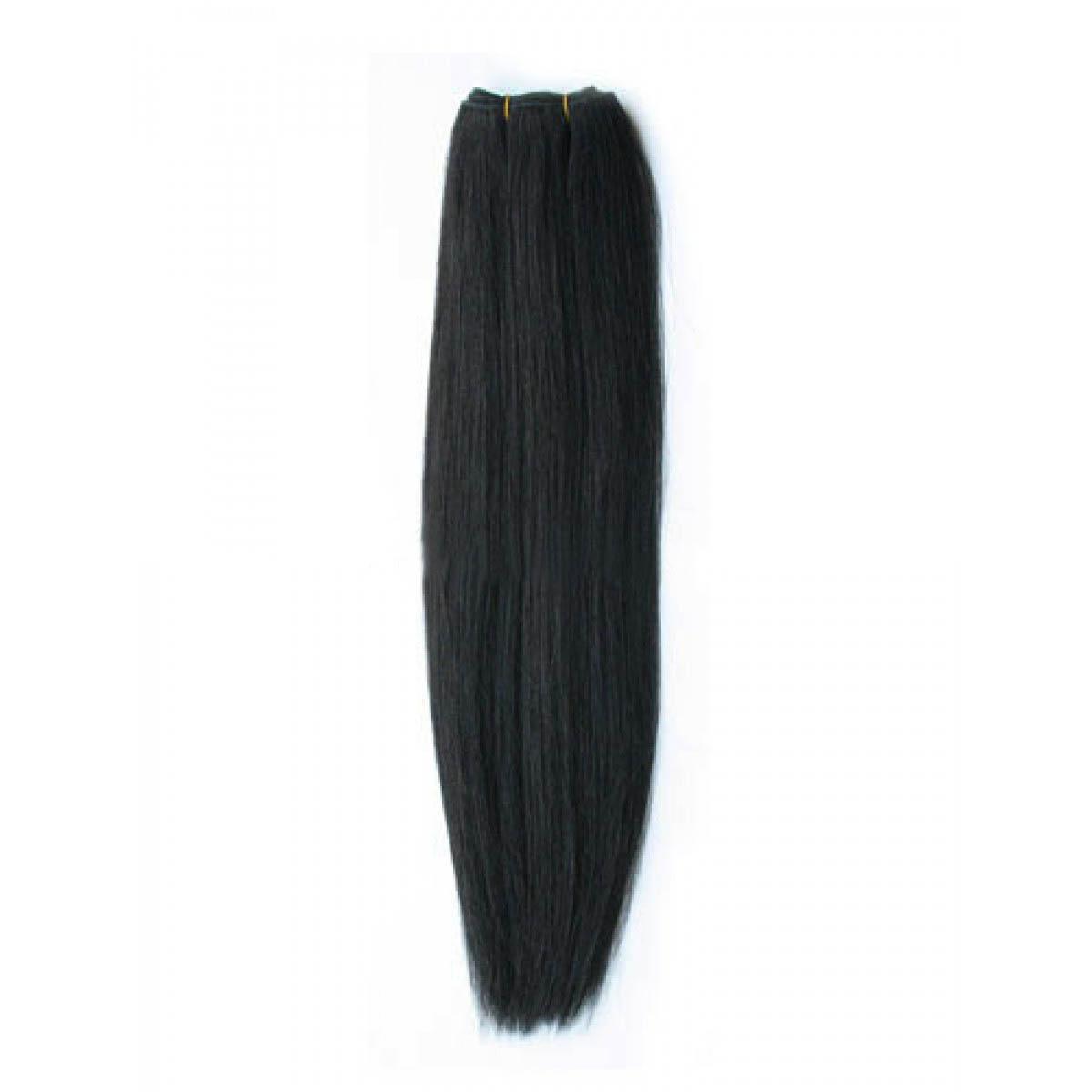 14 Inch #1b Natural Black Straight Brazilian Virgin Hair Wefts no 1