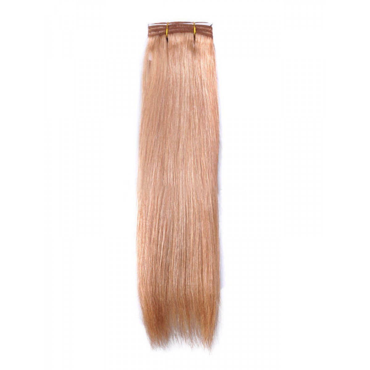 14 Inch #27 Strawberry Blonde Straight Indian Remy Hair Wefts no 1