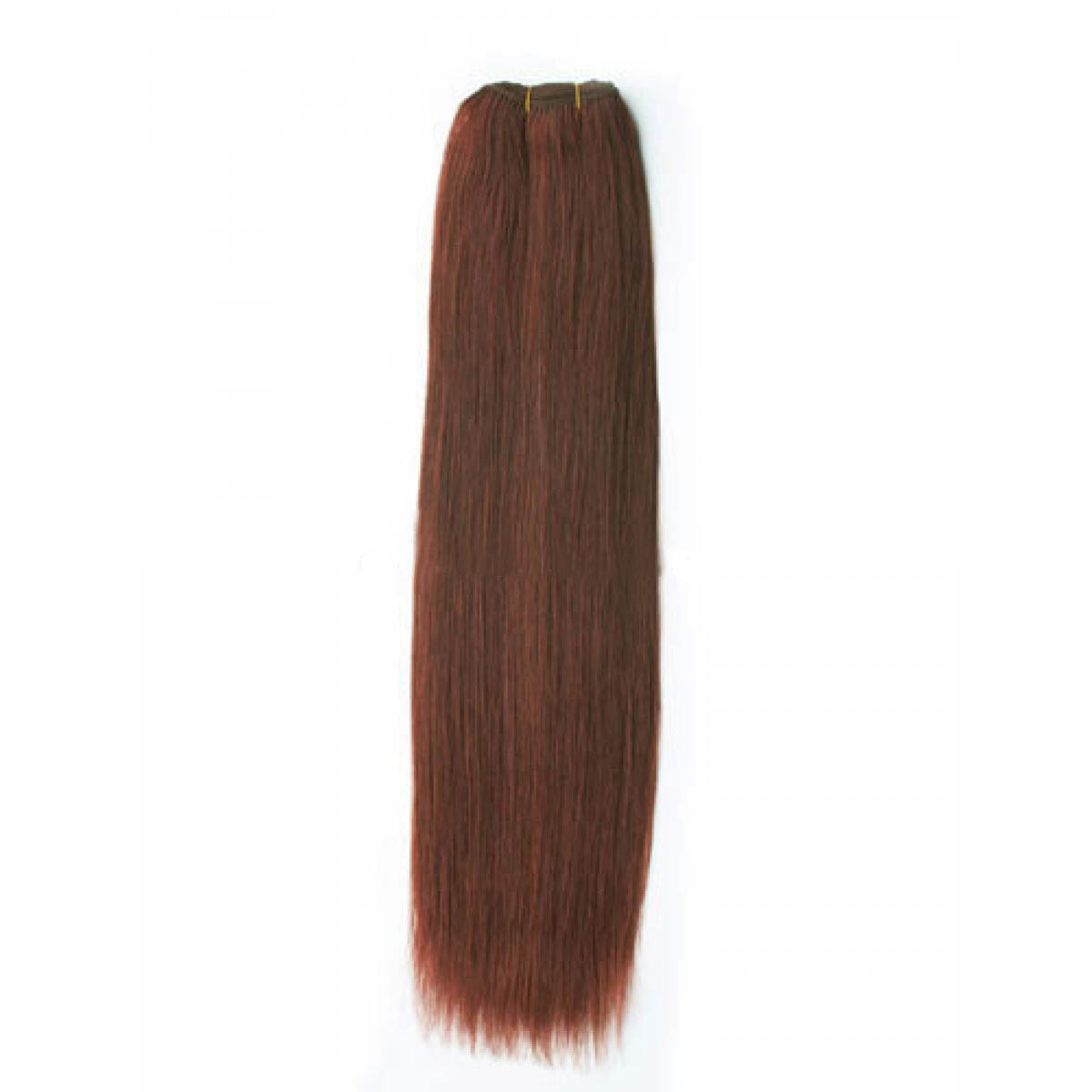 14 Inch #33 Dark Auburn Straight Indian Remy Hair Wefts no 1