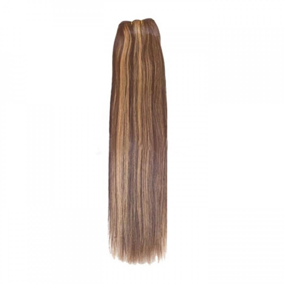 14 Inch #4/27 Brown/Blonde Straight Indian Remy Hair Wefts no 1