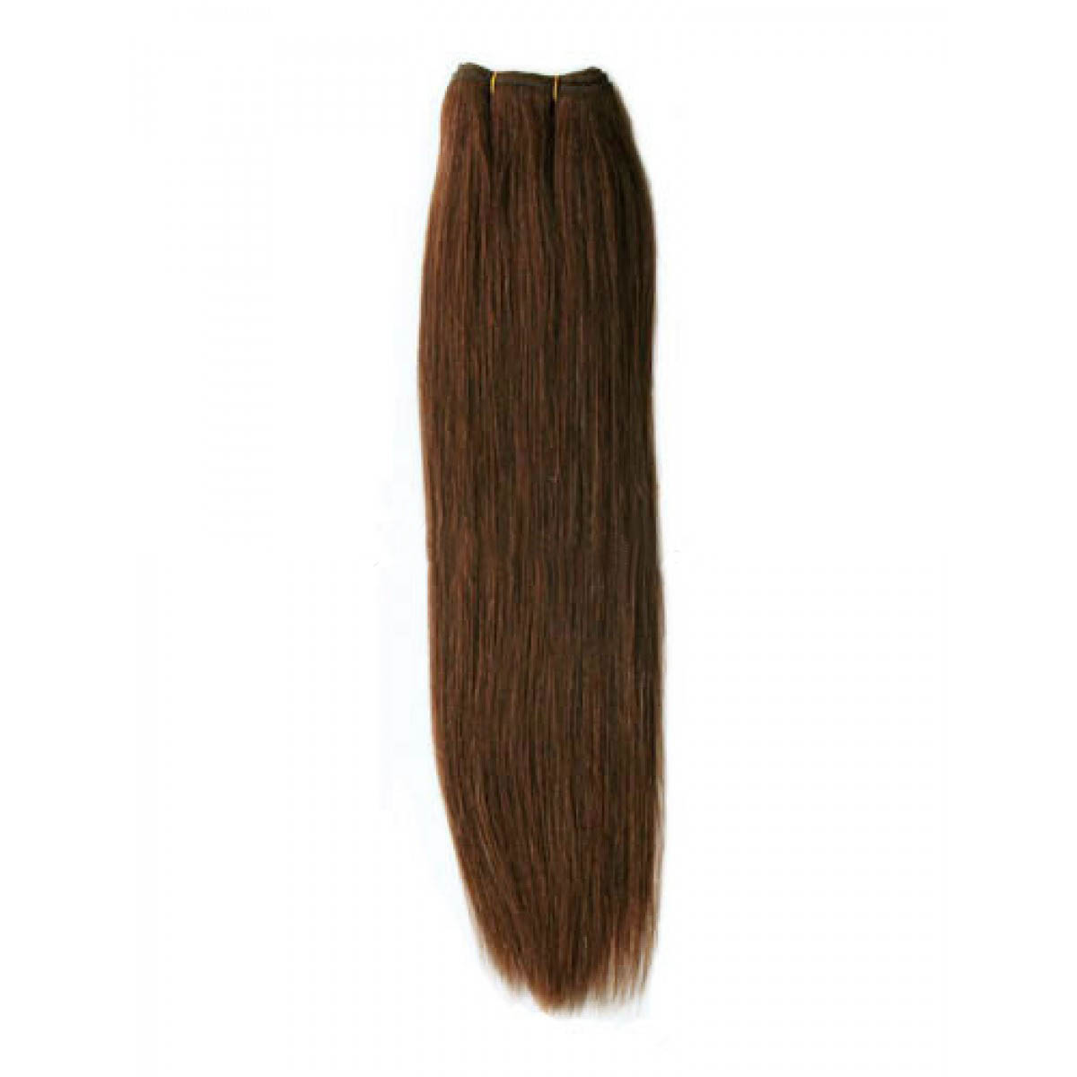 14 Inch #4 Medium Brown Straight Indian Remy Hair Wefts no 1