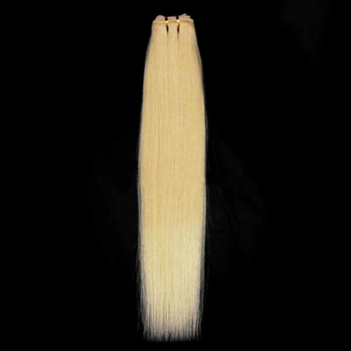 14 Inch#613 Bleach Blonde Straight Indian Remy Hair Wefts no 1