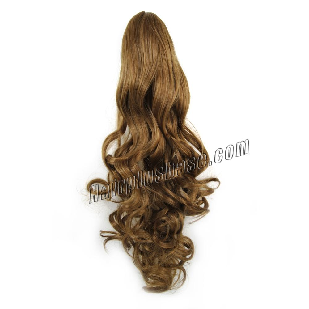 14 Inch Claw Clip Human Hair Ponytail Curly Shining #8 Ash Brown no 1