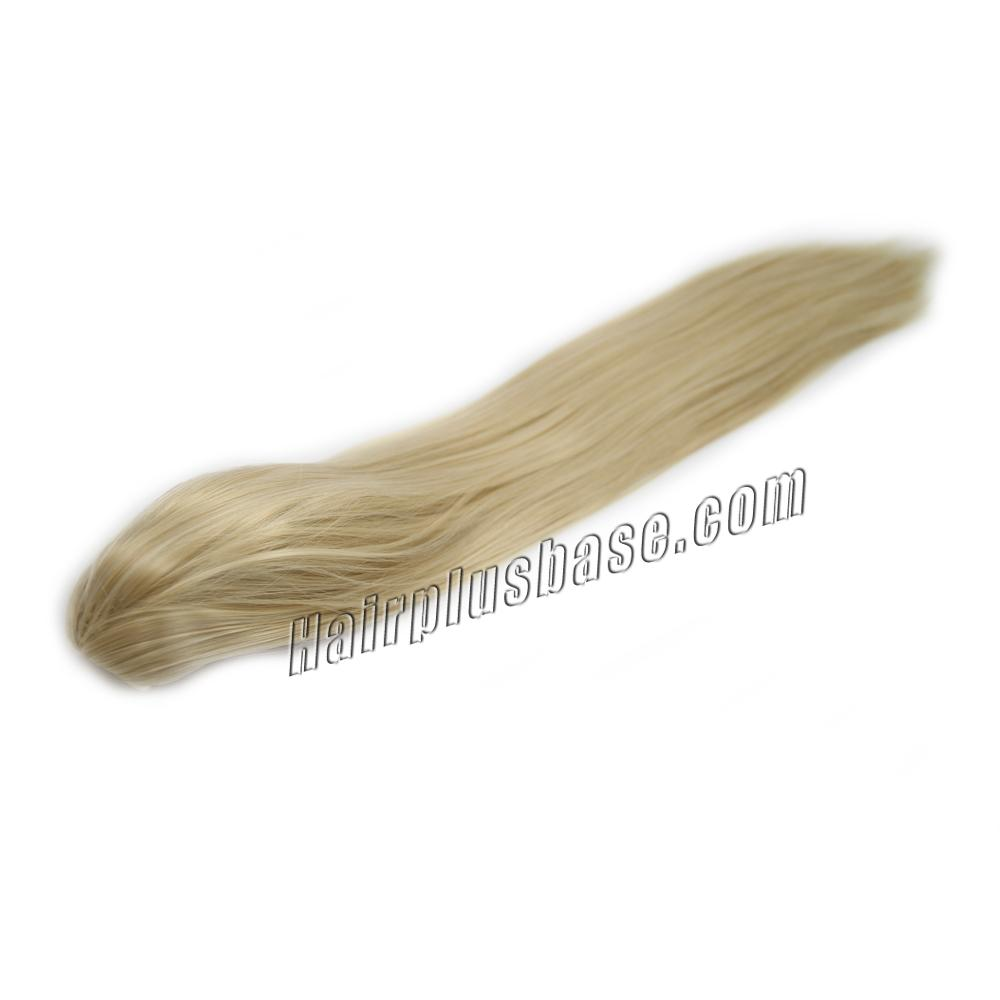 14 Inch Claw Clip Human Hair Ponytail Straight #24 Ash Blonde no 2