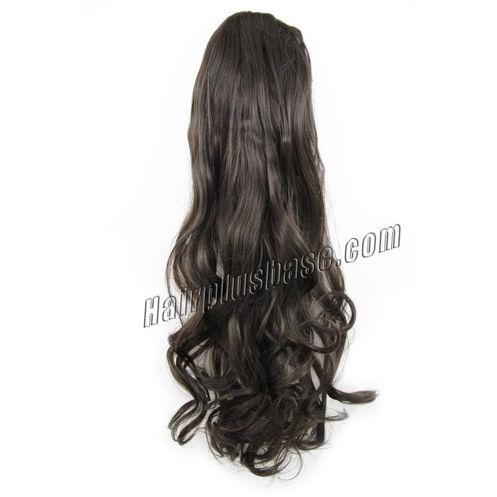 14 Inch Drawstring Human Hair Ponytail Casual Curly #2 Dark Brown no 1
