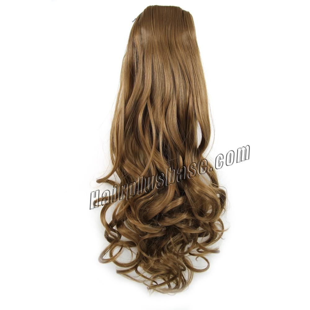 14 Inch Favourable Drawstring Human Hair Ponytail Curly #8 Ash Brown no 1