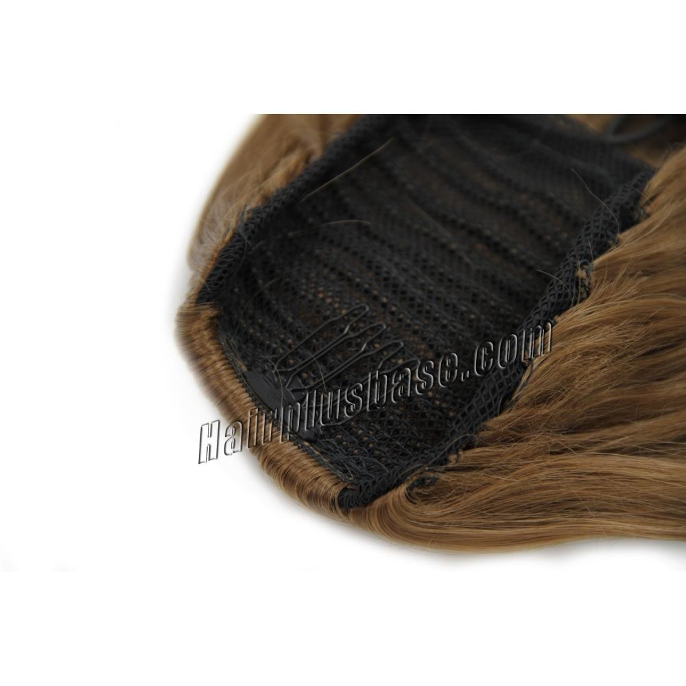 14 Inch Favourable Drawstring Human Hair Ponytail Curly #8 Ash Brown no 2