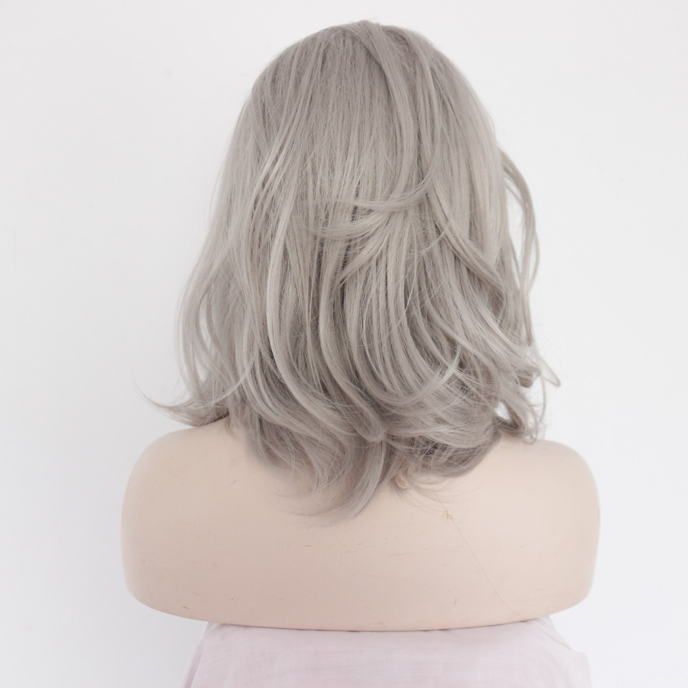 14 inch Long Chic Ombre Messy Bob Lace Front Wig 2