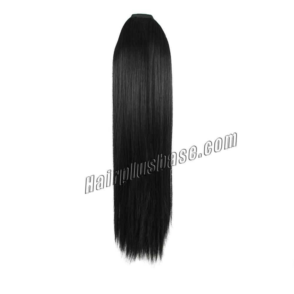 14 Inch Mysterious Lace/Ribbon Human Hair Ponytail Straight #1 Jet Black no 1