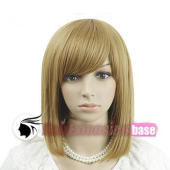 14 Inch Straight Medium Synthetic Hair Wigs #27 Strawberry Blonde