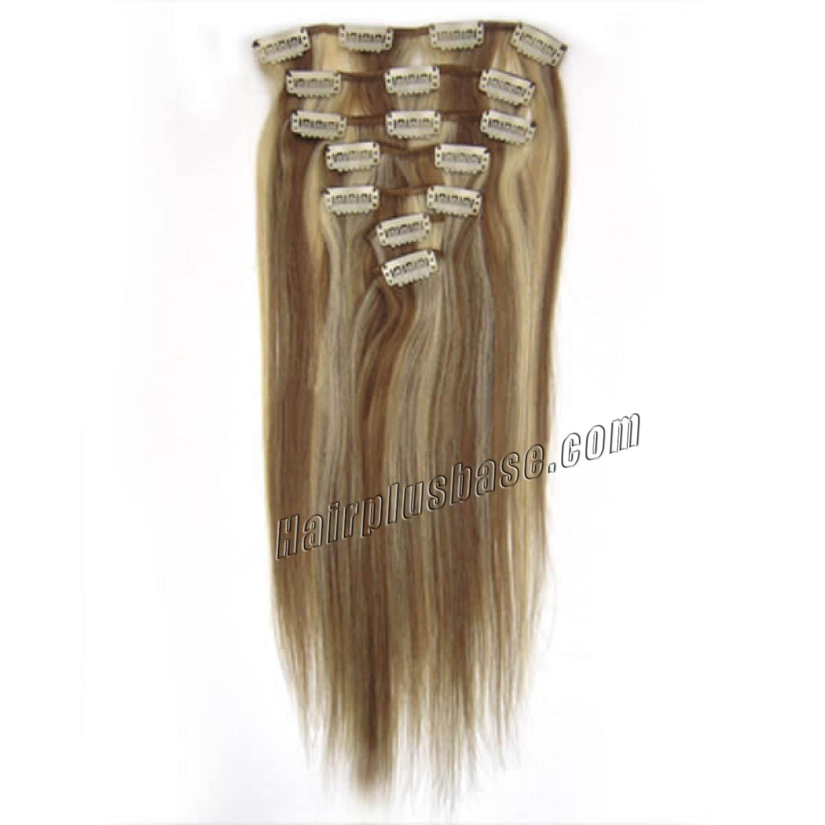 15 Inch #12/613 Clip In Human Hair Extensions 7pcs no 2