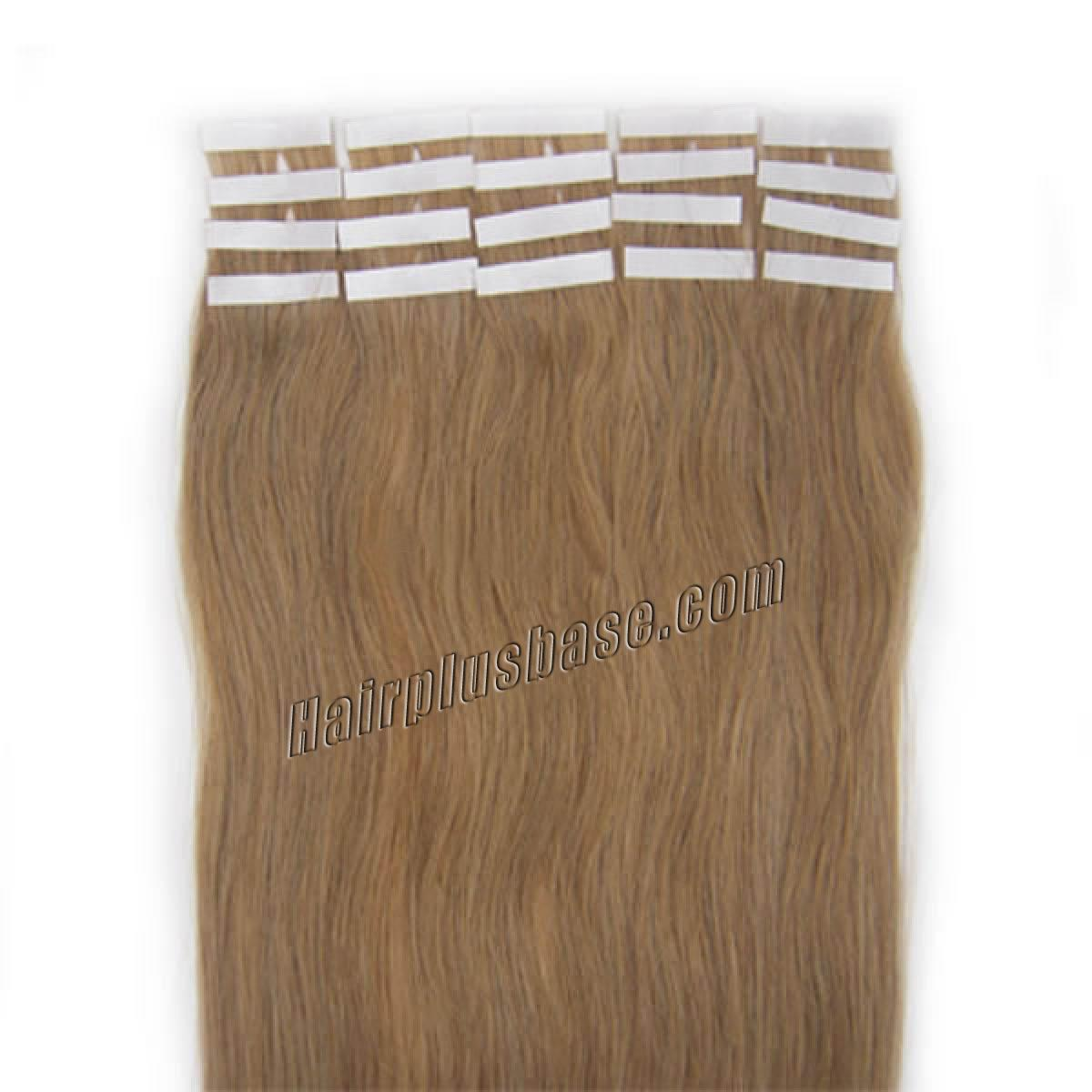 16 Inch 16 Golden Blonde Tape In Human Hair Extensions 20pcs