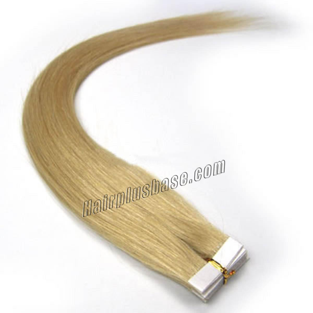 16 Inch #24 Ash Blonde Tape In Human Hair Extensions 20pcs no 1