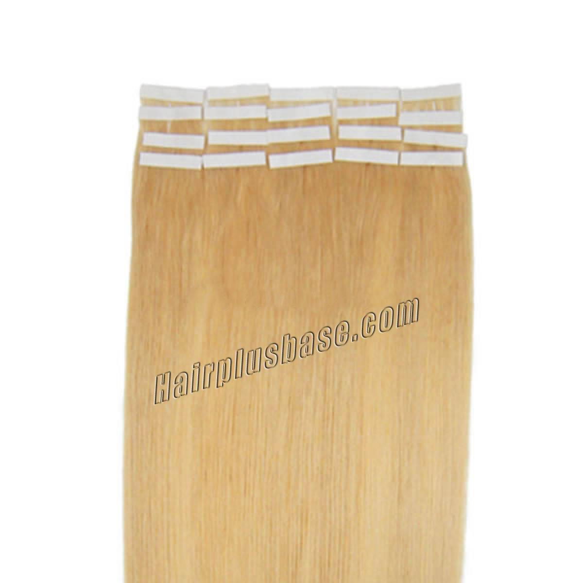 16 Inch #24 Ash Blonde Tape In Human Hair Extensions 20pcs no 2