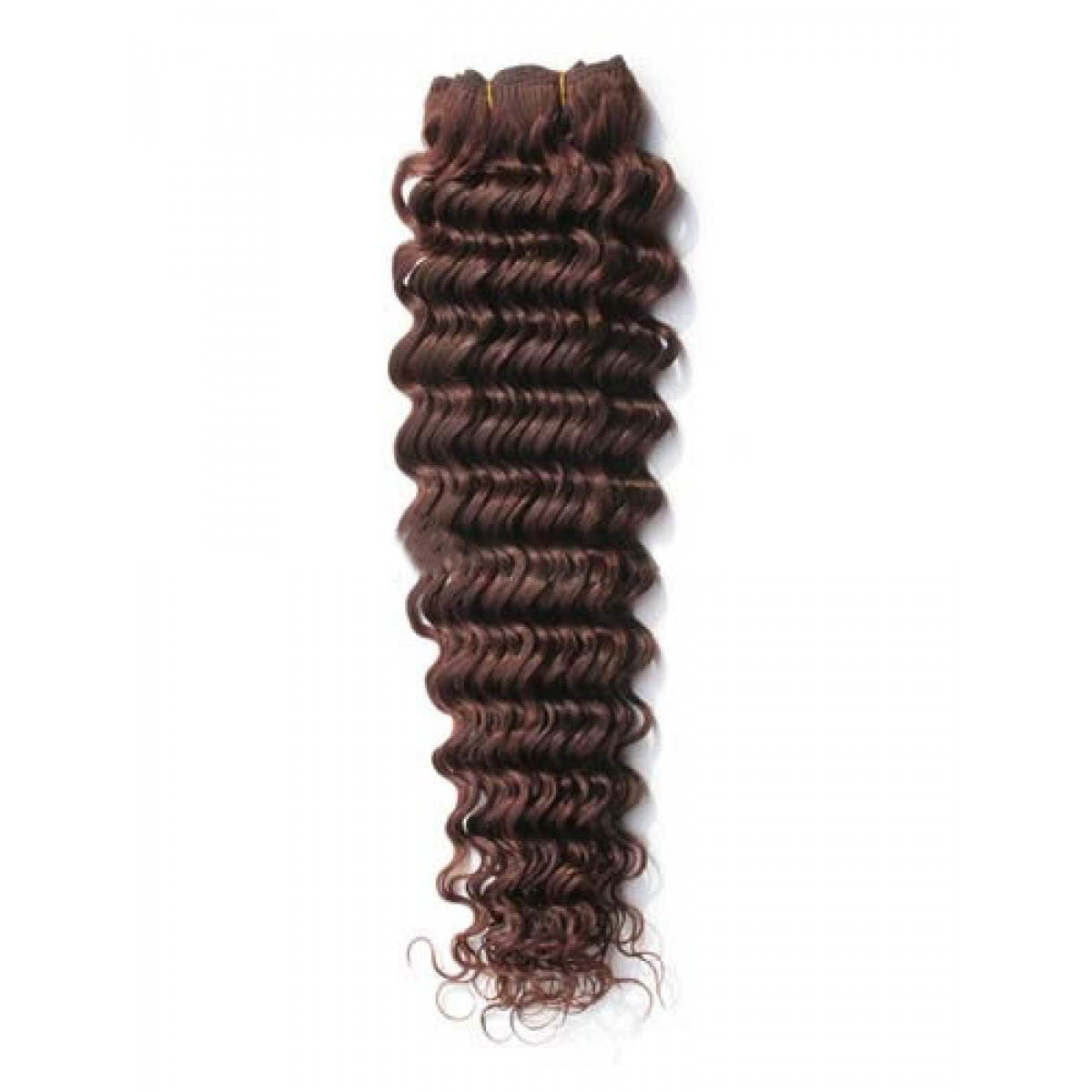 16 Inch 4 Medium Brown Deep Wave Indian Remy Hair Wefts