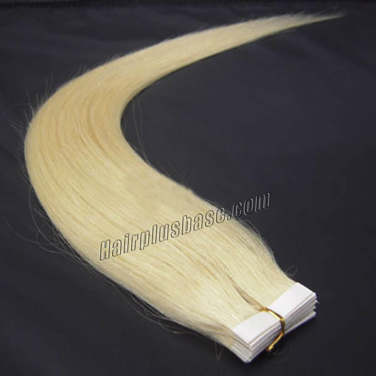 16 Inch #613 Bleach Blonde Tape In Human Hair Extensions 20pcs no 1