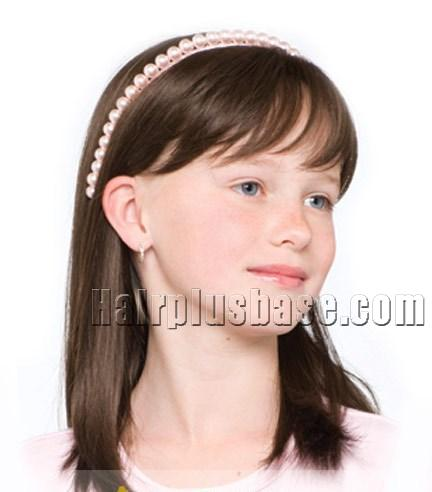 16 Inch European Style Medium Brown 100 Indian Remy Hair Wigs For Kids