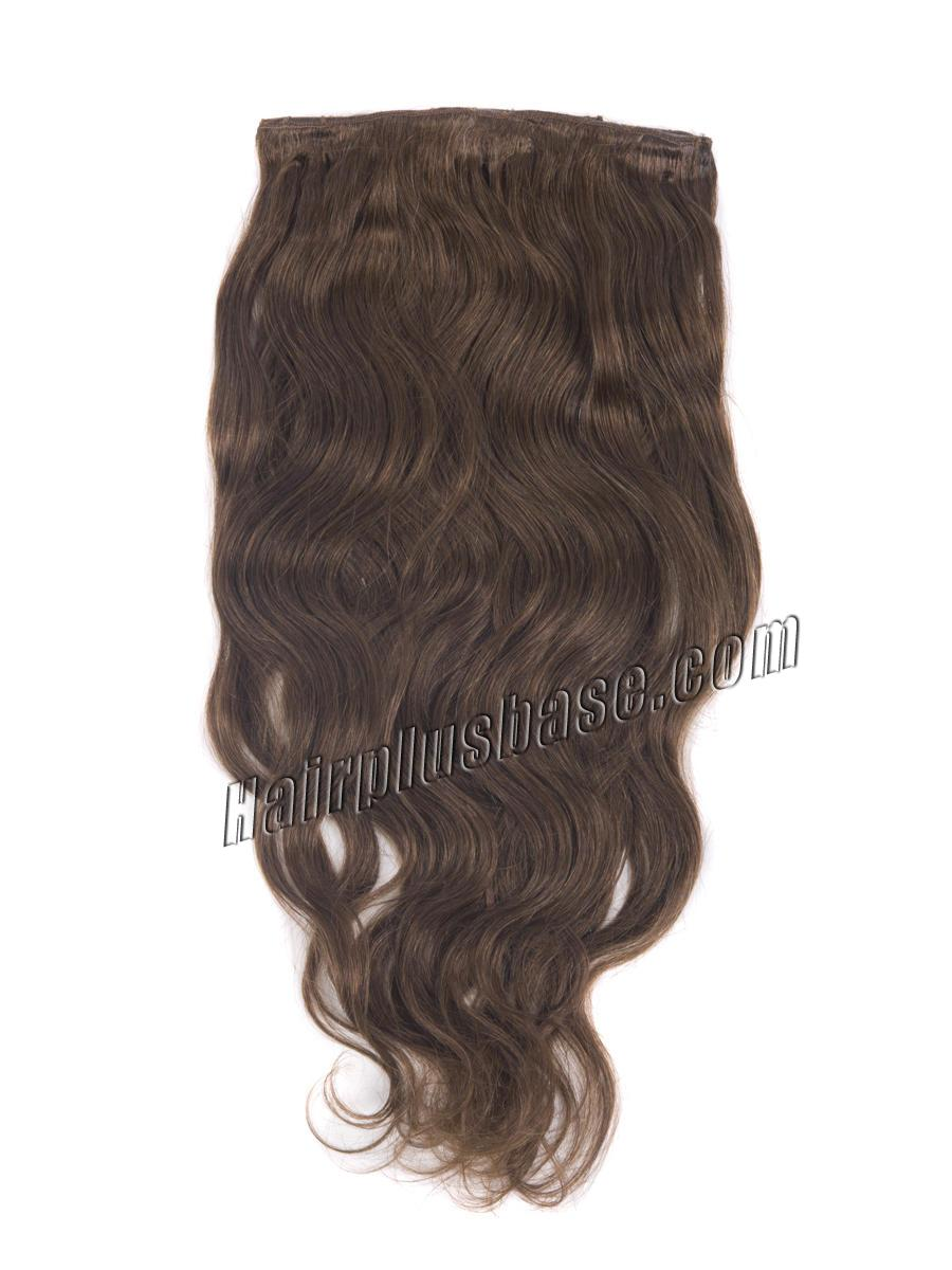 16 Inch Fabulous #6 Light Brown Clip In Hair Extensions Body Wave 7 Pcs no 1