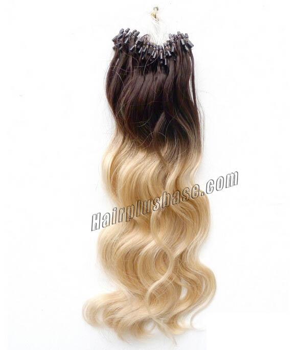 16 Inch Ombre Body Wave Micro Loop Hair Extensions Two Tone 100S no 4