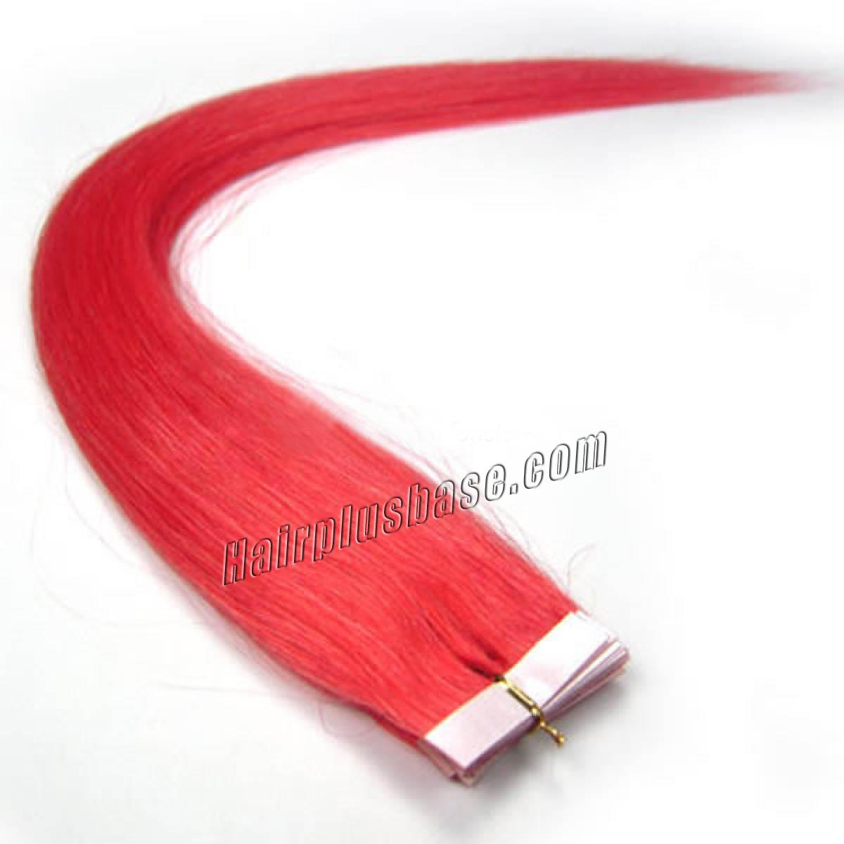 16 Inch Pink Tape In Human Hair Extensions 20pcs no 1