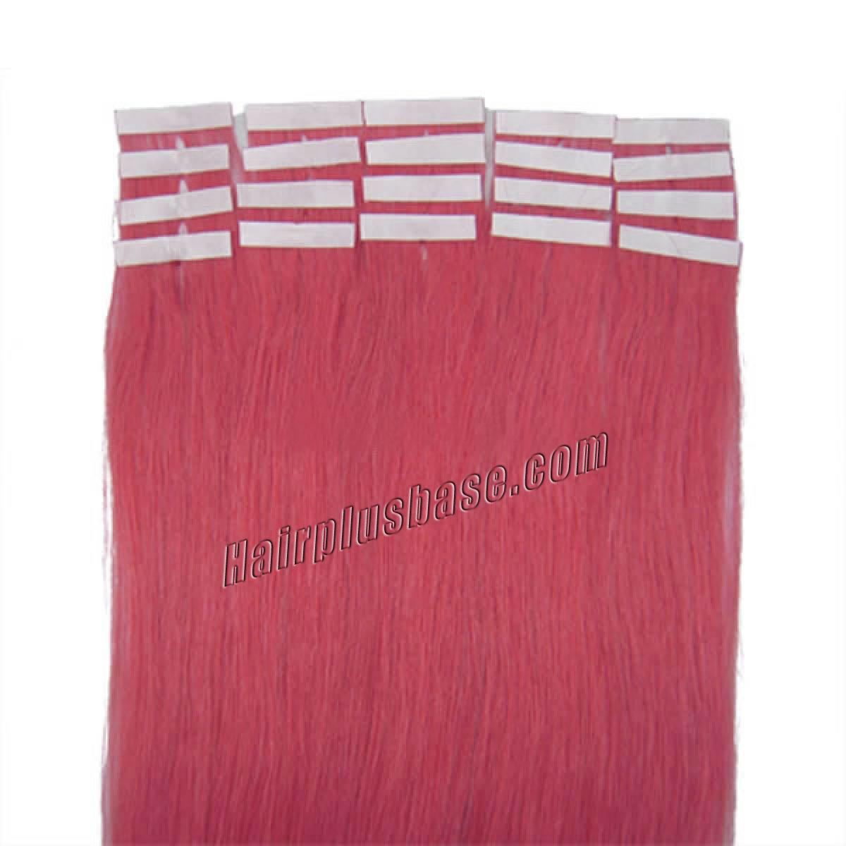 16 Inch Pink Tape In Human Hair Extensions 20pcs no 2