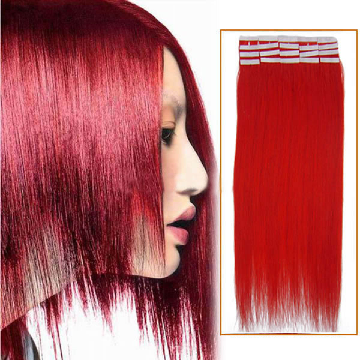 Inch red tape in human hair extensions 20pcs 16 inch red tape in human hair extensions 20pcs pmusecretfo Choice Image