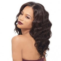 16 Inch Wavy Long Lace Front Wigs #2 Dark Brown