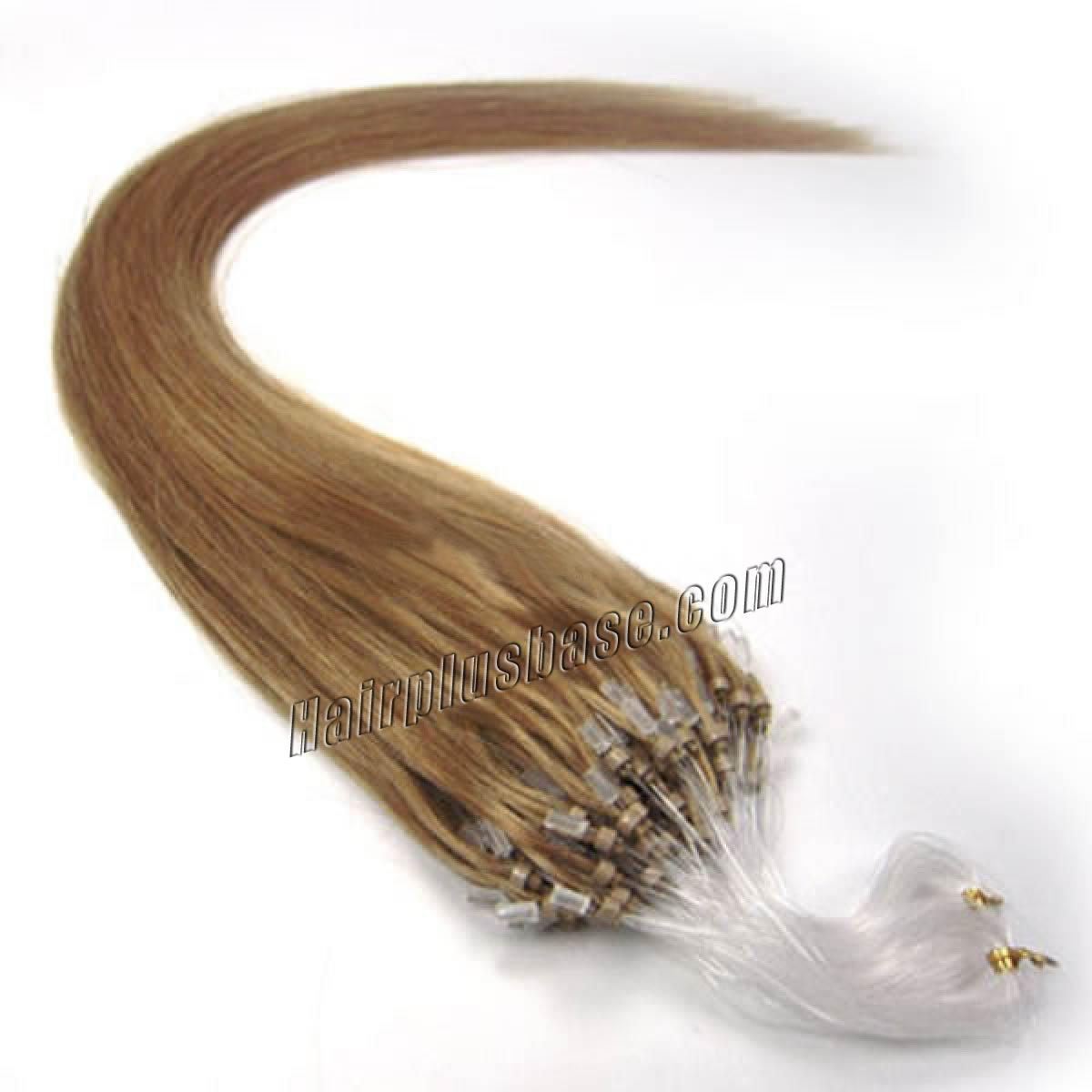 18 Inch 16 Golden Blonde Micro Loop Human Hair Extensions 100s
