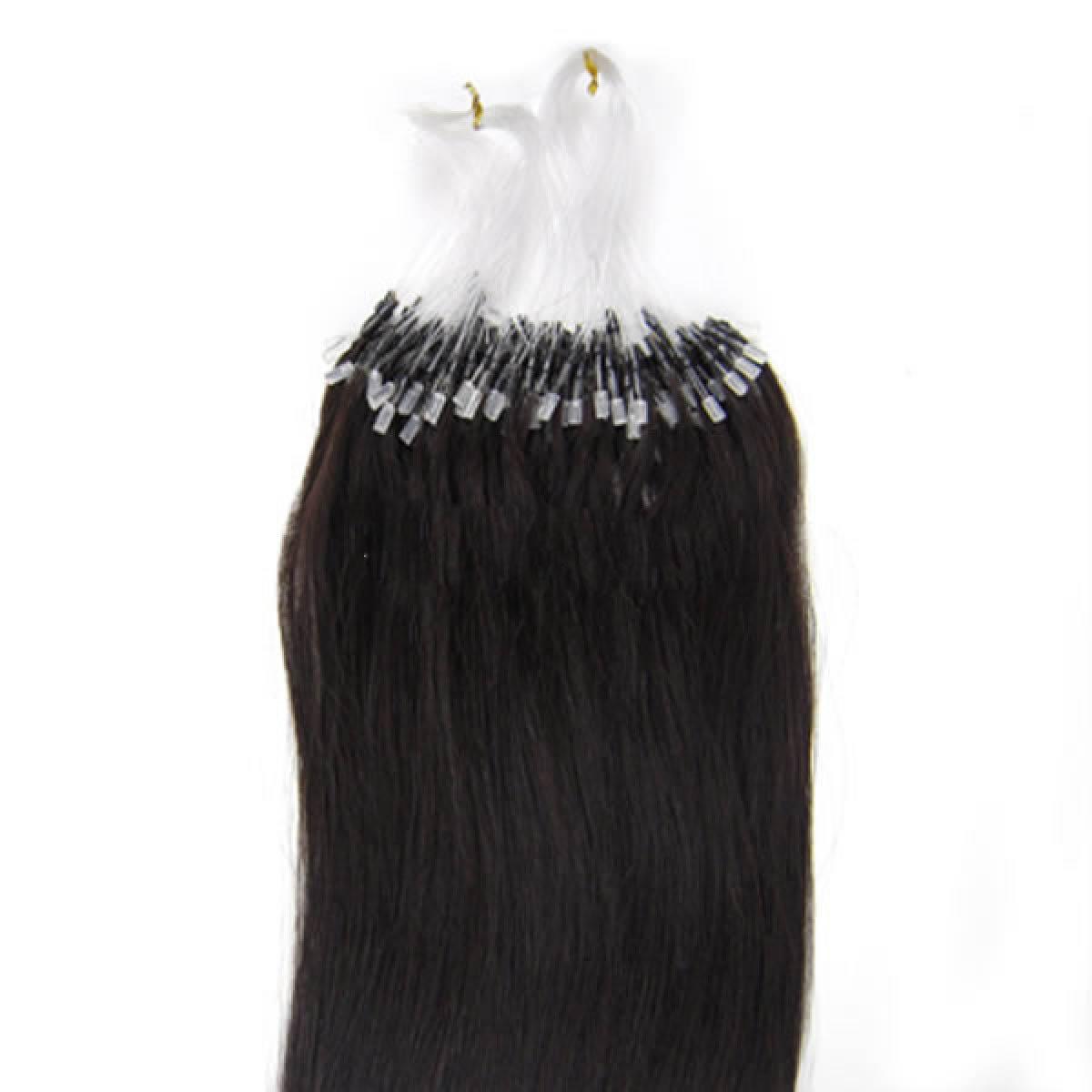 18 Inch 1b Natural Black Micro Loop Human Hair Extensions 100s 100g
