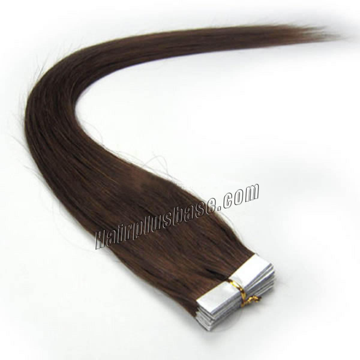 18 Inch #4 Medium Brown Tape In Human Hair Extensions 20pcs no 1
