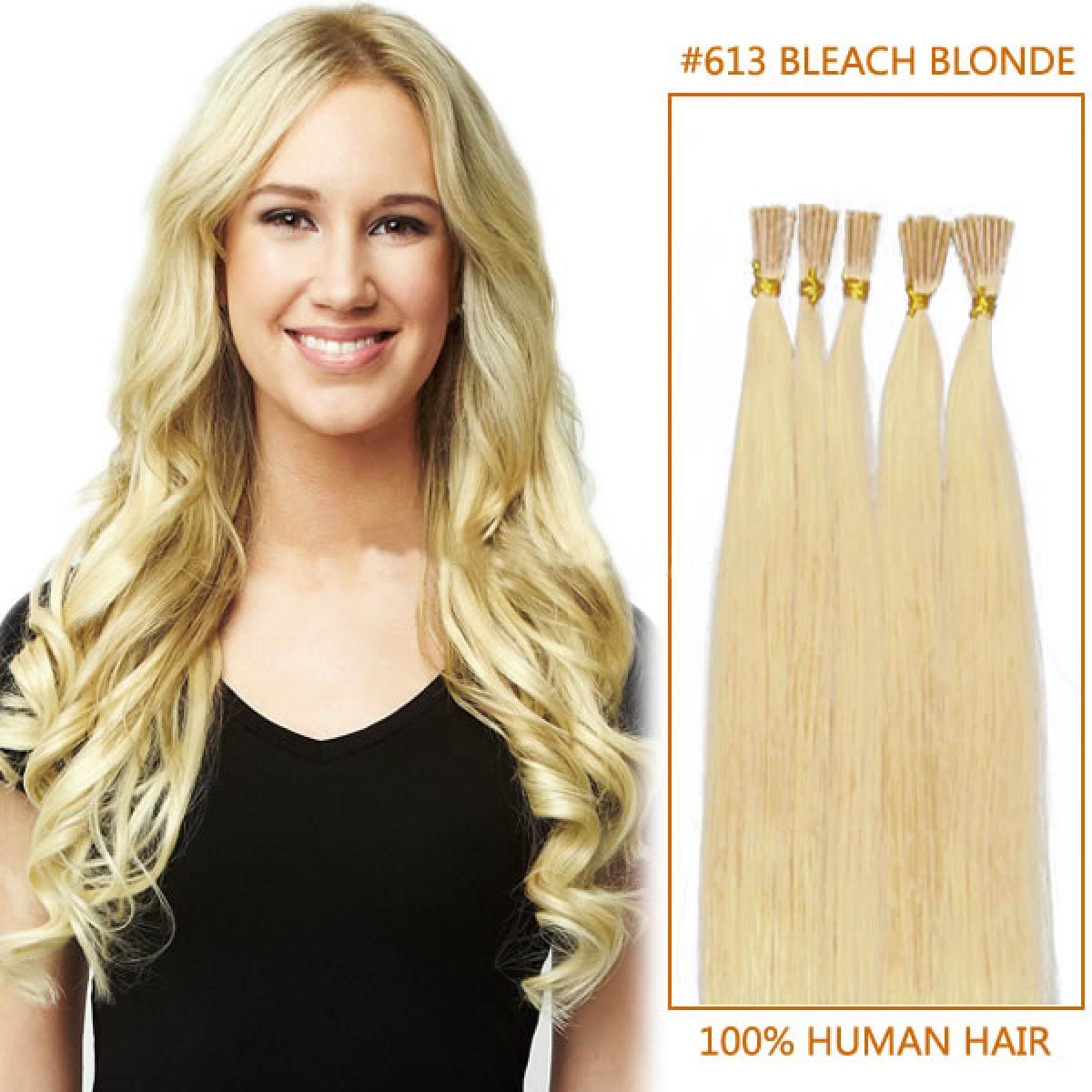 Inch 613 bleach blonde stick tip human hair extensions 100s 18 inch 613 bleach blonde stick tip human hair extensions 100s pmusecretfo Gallery