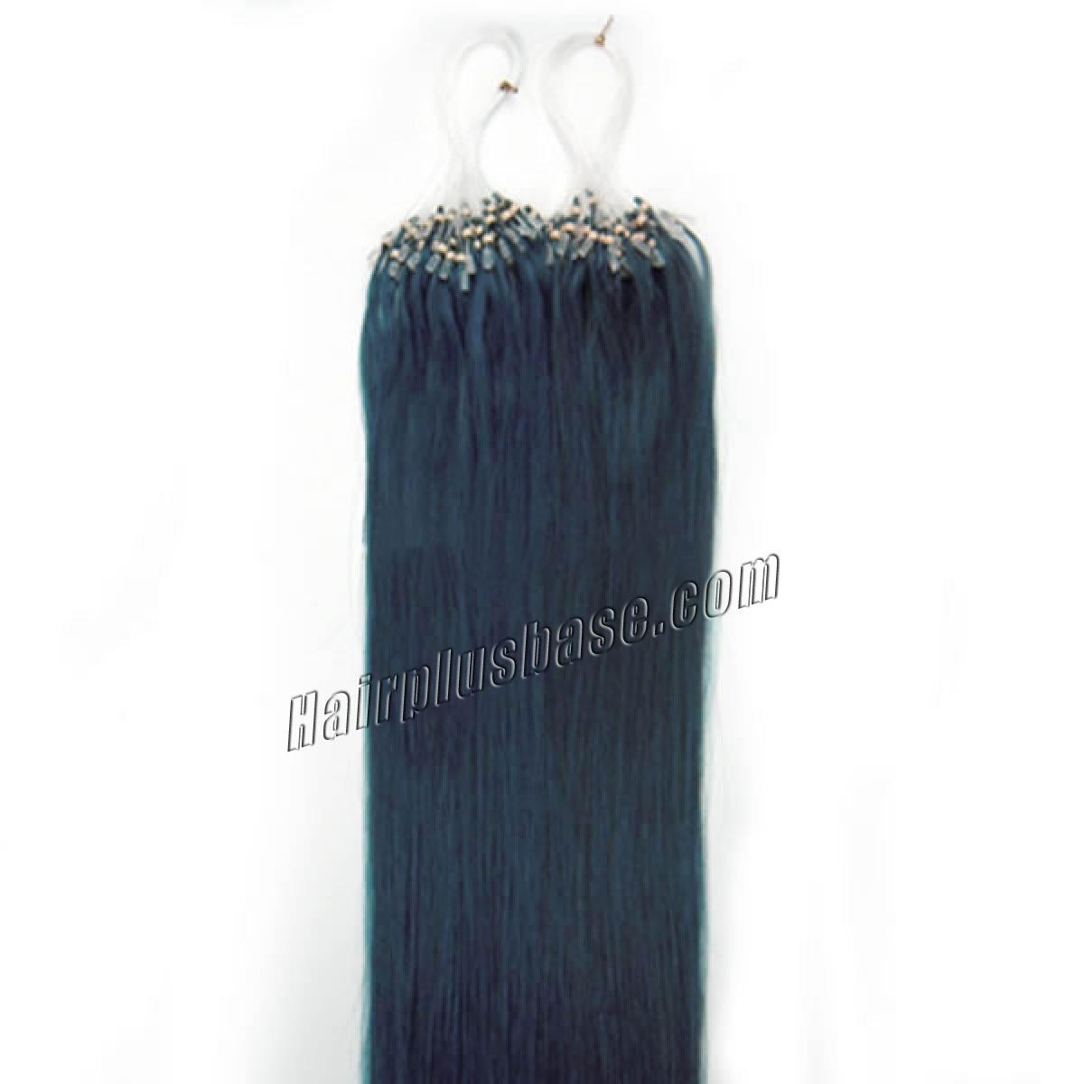 18 Inch Blue Micro Loop Human Hair Extensions 100s