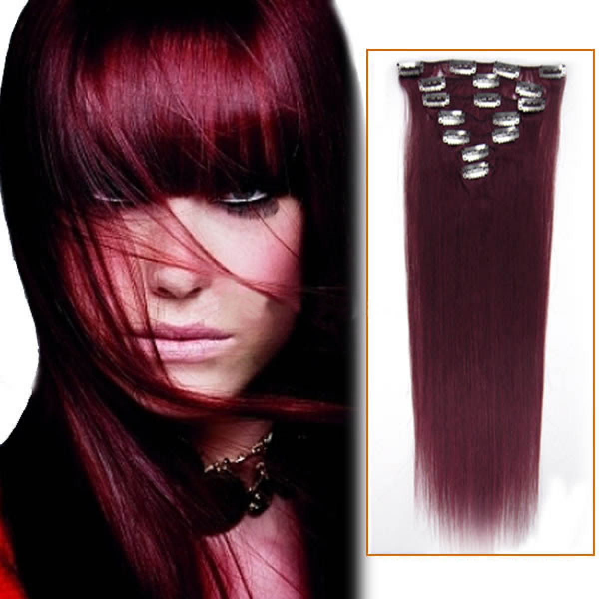 18 Inch Bug Clip In Remy Human Hair Extensions 7pcs