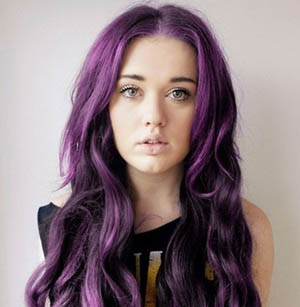 18 Inch Funky Purple Tape In Hair Extensions Straight 10pcs