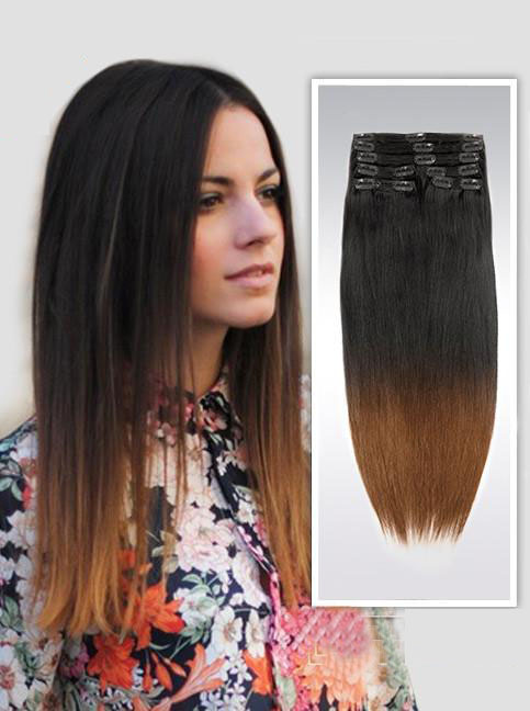 Inch ombre clean and funky clip in hair extensions two tone 18 inch ombre clean and funky clip in hair extensions two tone straight 9 pieces pmusecretfo Image collections