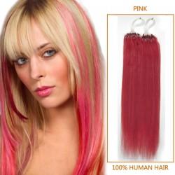 18 Inch Pink Micro Loop Human Hair Extensions 100S 100g